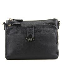 Jack Rogers | Black Celeste Small Crossbody Women Leather Messenger | Lyst