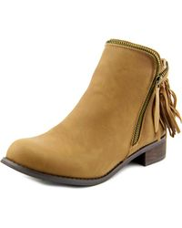 Wanted | Brown Abilene Women Round Toe Synthetic Ankle Boot | Lyst