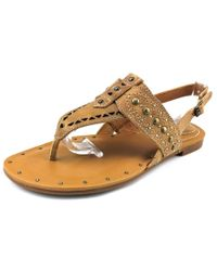 Ariat | Quartz Women Open-toe Leather Brown Slingback Sandal | Lyst