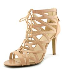 Nine West   Natural Authority Open Toe Leather Sandals   Lyst
