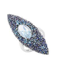 Alexis Bittar - Metallic Women's Drama Oxidized Sterling Silver & Multi Gem Ring Size 5.5 - Lyst