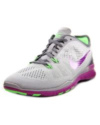 Nike | Free 5.0 Tr Fit 5 Women Round Toe Synthetic Gray Cross Training | Lyst