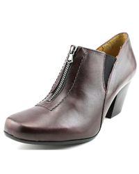 Fidji - Black L716 Round Toe Leather Heels - Lyst