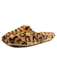 MICHAEL Michael Kors | Multicolor Jet Set Mk Fur Round Toe Synthetic Slipper | Lyst