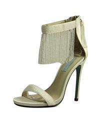 Betsey Johnson | Blue Grand Women Open Toe Canvas Ivory Sandals | Lyst
