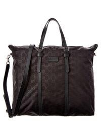 301578e0ed4 Lyst - Gucci Nylon Ssima Light Duffle Bag in Black