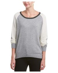 Scotch & Soda | Gray Colorblock Wool-blend Pullover | Lyst