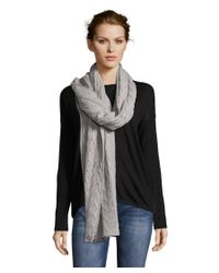 Portolano | Gray 100% Cashmere Wrap With Cables | Lyst