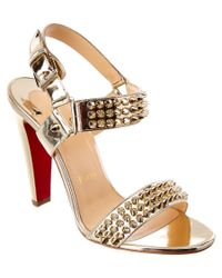 Christian Louboutin - Bikee Bike 100 Metallic Patentpump - Lyst