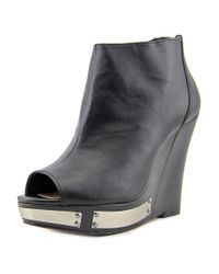 Vince Camuto | Black Waliss Open Toe Leather Wedge Heel | Lyst