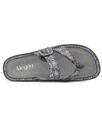 Alegria - Metallic Valentina Women Open Toe Leather Wedge Sandal - Lyst