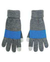 Fits   Blue Heather/azur Striped Gloves   Lyst