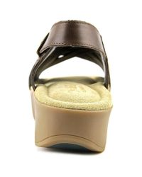 G.H. Bass & Co. - Gh Bass & Co Sadie Women Open-toe Leather Brown Slingback Sandal - Lyst