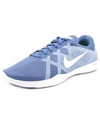 Nike   Blue Lunar Lux Tr Women Round Toe Synthetic Cross Training   Lyst