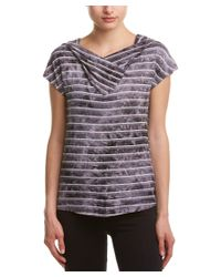 Balance Collection   Gray The Abigail Short Sleeve Hoodie   Lyst