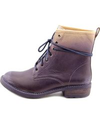 Lucky Brand - Purple Novembere Round Toe Leather Ankle Boot - Lyst
