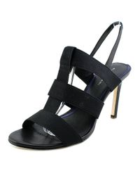 Elie Tahari   Black Ithaca Women Open Toe Canvas Sandals   Lyst