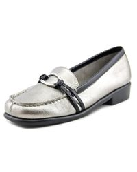 Aerosoles | Metallic Dubious Moc Toe Synthetic Loafer | Lyst