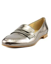 Tahari | Metallic Jada Loafer Round Toe Synthetic Loafer | Lyst