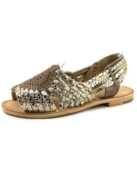 Seychelles   Metallic Darla Open Toe Leather Sandals   Lyst