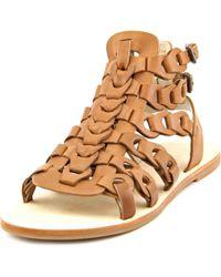 Elie Tahari | Multicolor Artisan Open Toe Leather Gladiator Sandal | Lyst