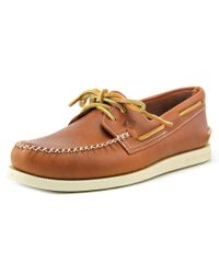 Sperry Top-Sider | Brown Sperry Top Sider A/o 2-eye Wedge Leather Moc Toe Leather Boat Shoe for Men | Lyst