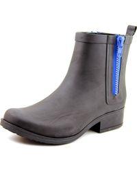 Lucky Brand | Rhandi Women Round Toe Synthetic Black Rain Boot | Lyst
