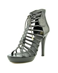 Viktor & Rolf | Black Paige Open Toe Leather Platform Heel | Lyst