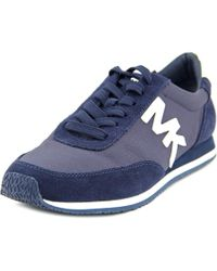 MICHAEL Michael Kors | Blue Stanton Trainer Women Suede Fashion Sneakers | Lyst