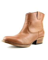 Kenneth Cole Reaction | Hot Step Women Round Toe Leather Brown Bootie | Lyst