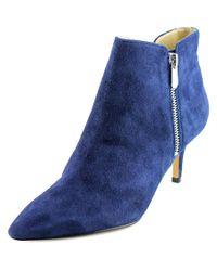 Adrienne Vittadini | Blue Senji Women Pointed Toe Suede Bootie | Lyst