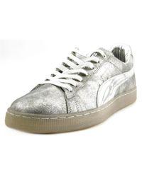 PUMA   Metallic X Meek Mill 24kwhite Men Round Toe Suede Silver Sneakers for Men   Lyst