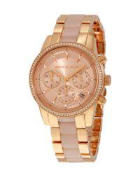 Michael Kors | Metallic Women's Ritz Watch | Lyst