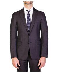 Prada - Men's Virgin Wool Silk Two-button Suit Brown for Men - Lyst