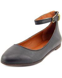 Lucky Brand   Gyllian Women Round Toe Leather Black Flats   Lyst