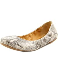 Lucky Brand   Gray Emmie Round Toe Leather Ballet Flats   Lyst