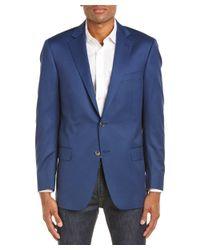 Hart Schaffner Marx - Blue Wool Sport Coat for Men - Lyst