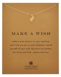 Dogeared | Metallic 14k Over Silver Make A Wish Chick Necklace | Lyst