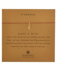 Dogeared - Metallic 14k Over Silver Make A Wish Passion Arrowhead Necklace - Lyst