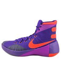 Nike | Hyperdunk 2015 Men Round Toe Synthetic Purple Basketball Shoe for Men | Lyst