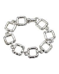 Jewelista - White Sterling Silver Slim Quilted Bracelet for Men - Lyst