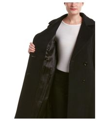 Cinzia Rocca - Black Wool & Cashmere-blend Wrap Coat - Lyst