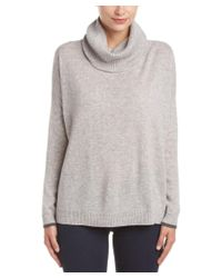 Three Dots - Gray Raleigh Cowl Neck Cashmere Sweater - Lyst