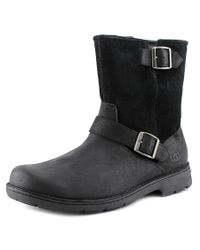 UGG | Messner Men 3e Round Toe Leather Black Ankle Boot for Men | Lyst