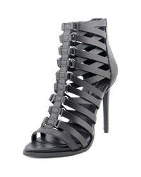 BCBGMAXAZRIA | Elvin Women Open Toe Leather Black Sandals | Lyst