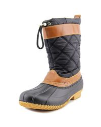 Isaac Mizrahi New York - Black Sleet Round Toe Canvas Snow Boot - Lyst