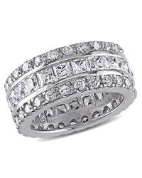 Catherine Malandrino - Metallic Square & Round Cubic Zirconia Ring - Lyst