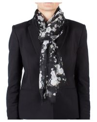 Givenchy - Black Women's Floral Pattern Cashmere Scarf Large - Lyst