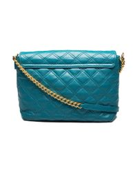Marc Jacobs - Blue Women's Leather 'the Large Single' Shoulder Handbag Peacock - Lyst
