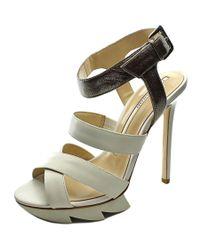 Camilla Skovgaard | White Strap Sandal Stilleto Open Toe Leather Platform Heel | Lyst